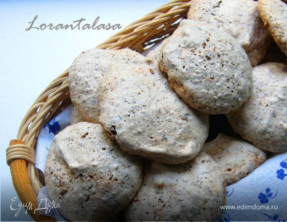 Воздушное кунжутное печенье с шоколадом