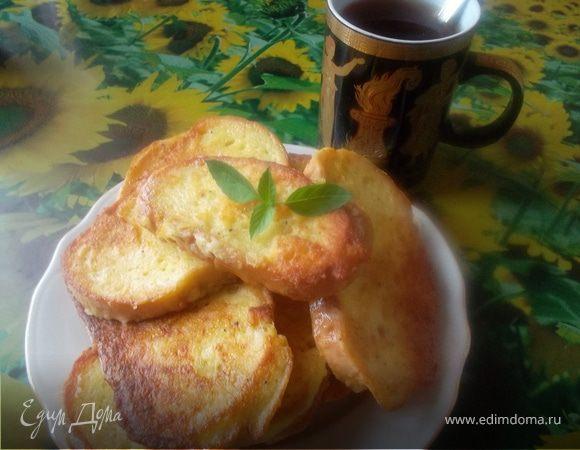 Гренки с картофелем и брынзой