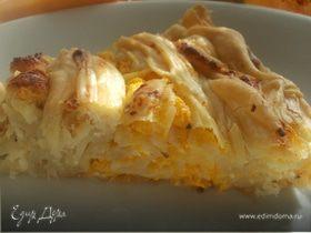 Сырный пирог с фетой и тыквой (из теста фило от Алекса)