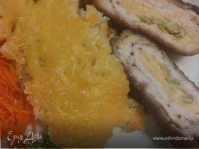 Куриный шницель с рисовой запеканкой