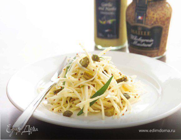 Салат из сельдерея в ремуладе с горчицей