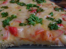 Пицца «Минутка» на сковороде
