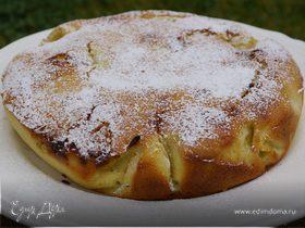 Грушевый пирог с белым шоколадом