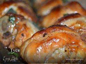 Лаковые куриные шашлычки под вустерским соусом
