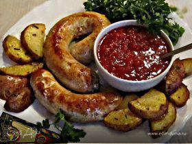Домашние куриные колбаски с сыром Джюгас