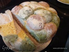 Разноцветный хлебушек с тыквой и щавелем