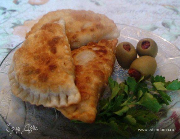 Постные жареные пирожки с тыквой и каперсами