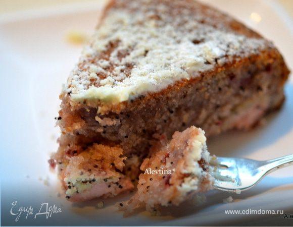 Быстрый кекс с маком и вареньем