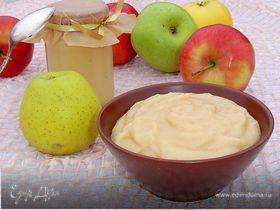 Нежное яблочное пюре со сгущенным молоком