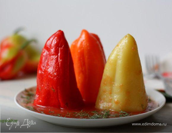 Перцы в томатном соке (для фарширования)
