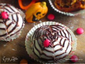 Маффины с тыквой, грушей и шоколадом Хэллоуин