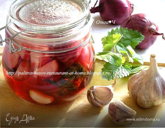 Маринованные овощи с мелиссой