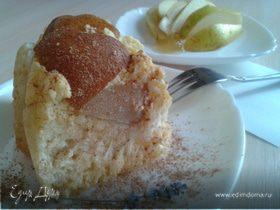 Пирог творожный с ванильной грушей
