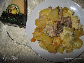 Запеканка со свининой, овощами и сыром Джюгас