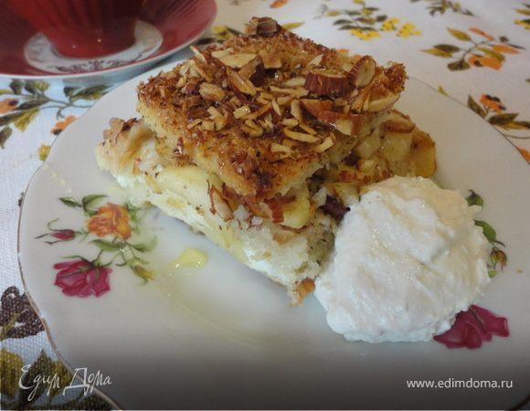 Хлебный яблочный пудинг по-крестьянски