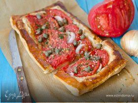 Открытый пирог с томатами
