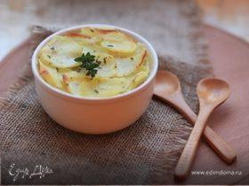 Сливочный гратен из картофеля