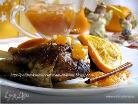 Индоутка в апельсинах и белом вине с чатни из мандаринов