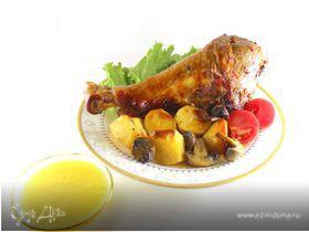 Запеченная индейка с цитрусовым соусом
