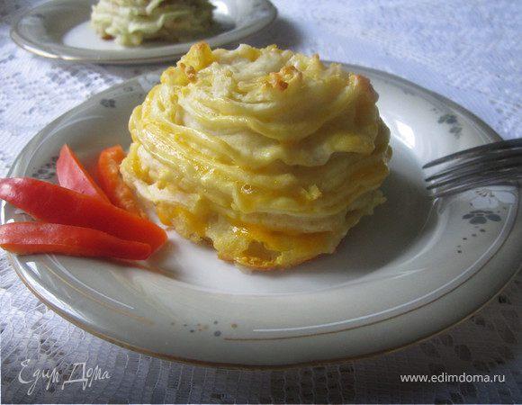 Котлеты в картофельных «гнездышках»
