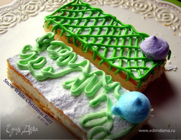 Белоснежные новогодние пирожные