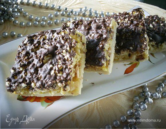 Орехово-шоколадный пирог