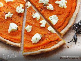 Пицца с тыквой и козьим сыром