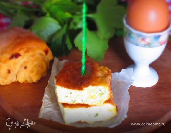 Нежный омлет с рикоттой в духовке (детское меню)