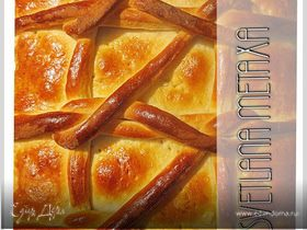 Пирог с начинкой из персикового джема