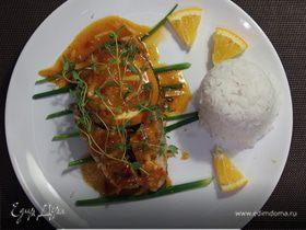 Запеченный лосось в апельсиновом соусе