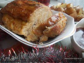 Праздничная свинина под медово-горчичной глазурью