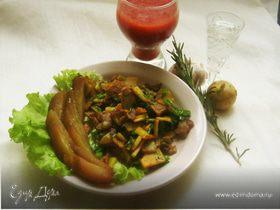 Жареная картошка с беконом