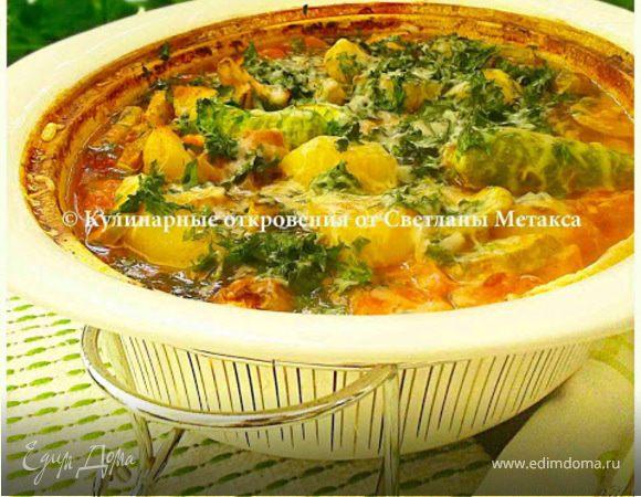 Мясо с овощами, запеченное в духовке