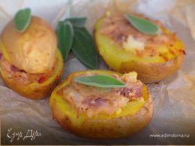 Картофель, фаршированный тунцом