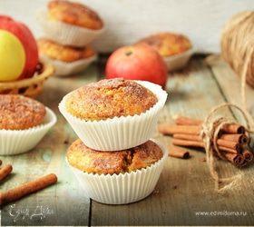 Яблочные маффины с халвой и корицей