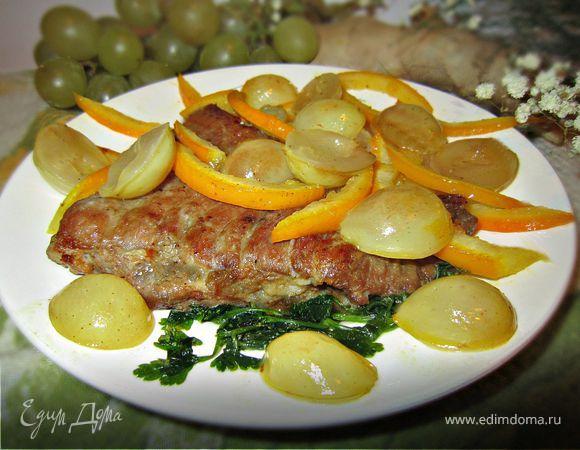 Свинина под фруктовым соусом