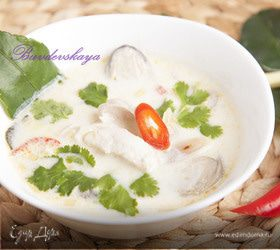 "Настоящий тайский суп ""Том Ка Гай"" (Tom Kha Gai)"