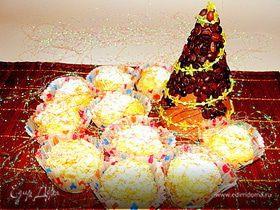 """Ванильные пирожные с белым шоколадом и кедровыми орешками """"Розы в снегу"""""""
