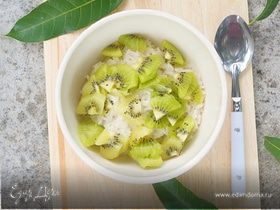 Рисовый пудинг на кокосовом молоке с фруктами