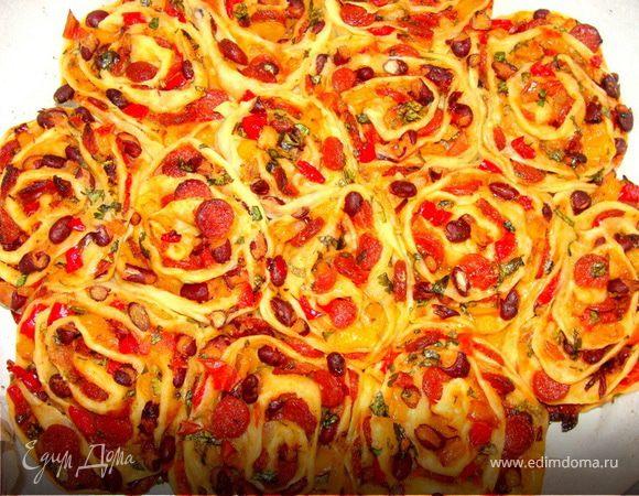 """Острая пицца """"Жгучие розы"""""""