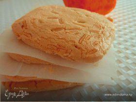 Апельсиновое песочное печенье с миндалем