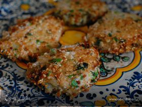 Биточки из тофу с зеленью и грецкими орехами