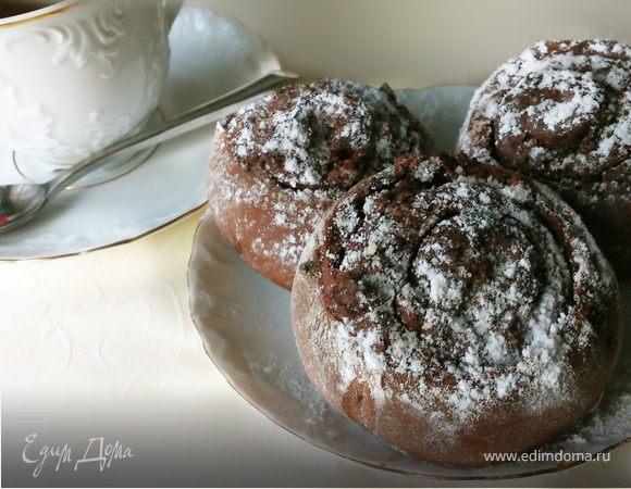 Шоколадные булочки с начинкой