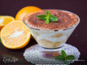 Апельсиновый тирамису с мятным сиропом