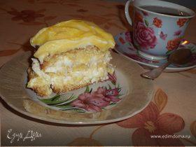 Лимонное пирожное