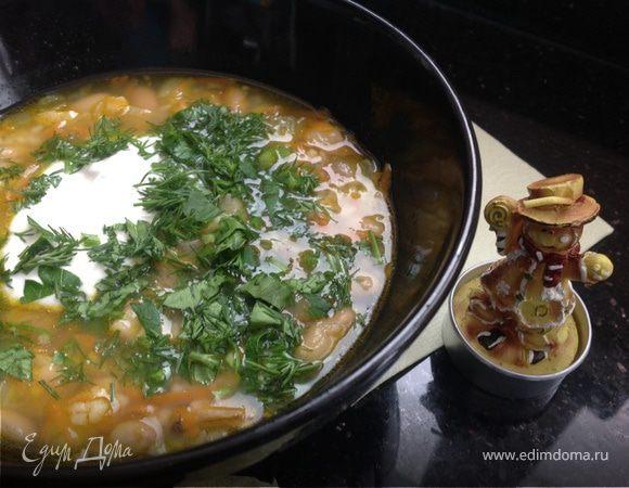 Суп с фасолью и кускусом