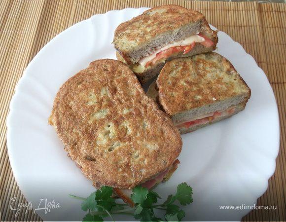 Быстрый бутерброд в кляре