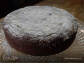 Шоколадно-миндальный пирог на маскарпоне