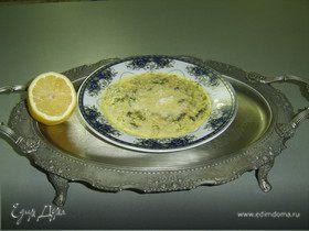 Суп на основе ячменных хлопьев