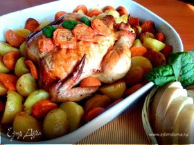 Курица с морковью и картофелем